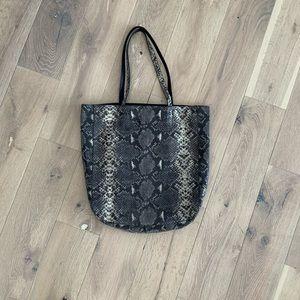 BANANA REPUBLIC leather Snakeskin Tote
